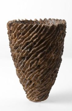 brown - Spiral Vase, 2007-  ceramic - Glazed ceramic, clay with volcanic grit - Barbro Åberg
