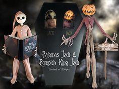 1999 Nightmare Before Christmas 2 pack Pajama Jack Pumpkin King Case fresh MIB   eBay