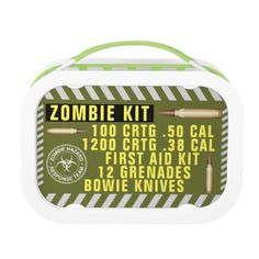 Zombie Kit Lunch Box - halloween decor diy cyo personalize unique party