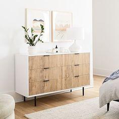 White Nightstand, Wood Nightstand, White Wood Dresser, Light Wood Dresser, Nightstands, Bedside, Wood Drawers, Dresser Drawers, Teen Dresser