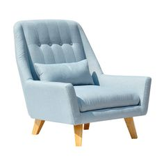 Have to have it. Chloe Chair - Light Blue - $1099.99 @hayneedle