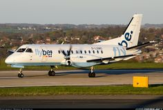 Flybe - British European (Loganair) Saab 340B 	 Leeds / Bradford - Yeadon (LBA / EGNM) UK - England, April 18, 2014