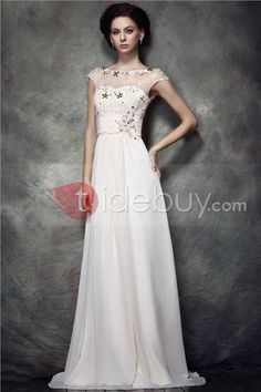 Charming Lace Sequins A-Line Jewel Neckline Floor-Length Polina's Mother of Bride Dress