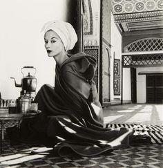 Woman in Palace, Marrakech, Morocco, 1951 Photographer: Irving Penn Model: Lisa Fonssagrives-Penn