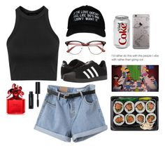 """""""If the love doesn't feel like 90s R&B I don't want it"""" by ahriraine ❤ liked on Polyvore featuring Topshop, adidas, Marc Jacobs, Bobbi Brown Cosmetics and ZeroUV"""