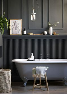 Home Design, Interior Design Trends, Bathroom Interior Design, Bathroom Wall Panels, Wooden Wall Panels, Wooden Walls, Wall Wood, Wall Tiles, Modern Wall Paneling