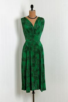 1940's Vintage Mollie Parnis Dress