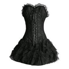 Buy Bslingerie Womens Gothic Lolita Boned Bustier Corset Dress at Wish - Shopping Made Fun Black One Piece Dress, Gothic Lolita, Lolita Style, Victorian Gothic, Victorian Vampire, Gothic Corset, Goth Style, Black Corset, Gothic Dress