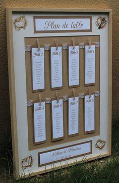 Plan de table n°2 gamme |mariage champêtre chic|                                                                                                                                                      Plus
