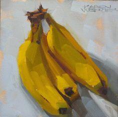 Karen Werner Fine Art: Nanner, Nanner, Nanners -a still life painting in ...