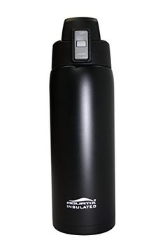 Aquatix Matte Black Insulated FlipTop Ultimate Sport Bottle 21 ounce Pure Stainless Steel * Check out this great product. Note:It is Affiliate Link to Amazon.