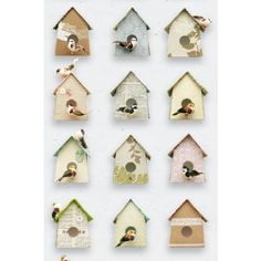 The Birdhouse Wallpaper by Studio Ditte is a quirky design featuring pretty little birds living in a variety of vintage papered and fabric houses. Free delivery at Lime Lace Vintage Wallpaper, Home Wallpaper, Girl Wallpaper, Wallpaper Crafts, Painted Wallpaper, Wallpaper Designs, Beautiful Wallpaper, Beach House Style, Decoupage