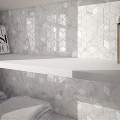 Mosaïque mur Murano hexa blanc carrare | Leroy Merlin crédence cuisine