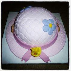 Easter bonnet hat cake