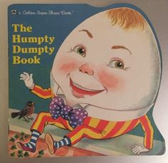 "Rare Golden Super Shape Book The Humpty Dumpty Book 1987 ""J"" Free Shipping VGC"
