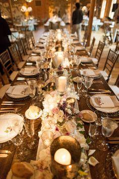 TableArt - Guest Farm Table {venue: Sweetwater Farm I venue: We Laugh We Love} www.tableart.net