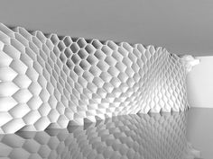 """#Honeycomb Morphologies (Rhino Grasshopper) From the creator @Rodrigo_Medina : """"Honeycomb Morphologies have become a very popular subject in architectural design because of their structural and aesthetic properties , so I decided to join the party an play with this particular kind generative projects ,this experiment develops a honeycomb system that is able to adapt to a local existing context and to different performance requirements."""" read more about the design at the website."""