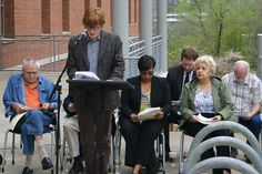FHS senior Tyler Dunn served as one of the readers during Fayetteville Public Library's  (Arkansas) reading of Dr. King's Letter.