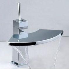 Contemporary Brass Bathroom Sink Faucet Chrome Finish T6008 Bathroom Sink Design, Bathroom Sink Taps, Brass Bathroom, Diy Bathroom Decor, Bathroom Layout, Modern Bathroom, Bathroom Ideas, Bath Taps, Bath Design