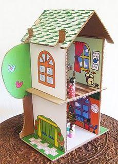 Cardboard school/house