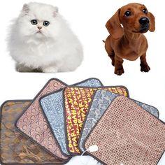 防水ペット子犬子猫エレクトリックヒートパッド犬猫バニーヒーターマットブランケットベッド18ワット220ボルト〜50 hz 40*40センチ色でランダム