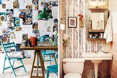 Magazine Wallpaper - 15 Simple DIYs to Repurpose Those Old Stacks of Magazines via Brit + Co.