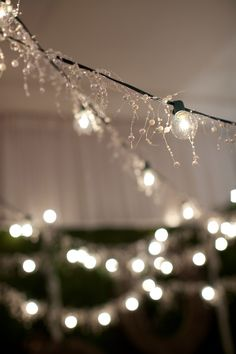 Obsessed with rope lighting and love the idea of adding beads/sparkle for extra flare!