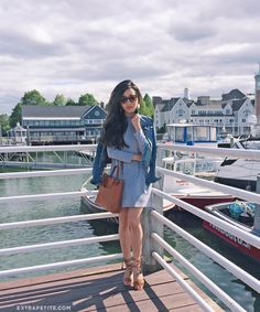 boston summer casual outfit swing dress gladiator sandals