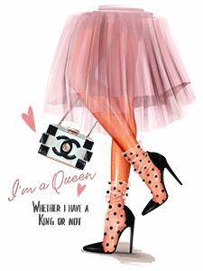Home - Anastasia Kosyanova Black Girl Art, Black Women Art, Art Girl, Fashion Drawing Dresses, Fashion Sketches, Image Bougie, Fashion Illustration Chanel, Mode Poster, Girly Drawings