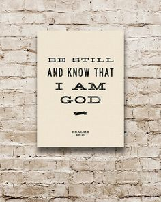 BE STILL Scripture Quote. Stretched Canvas Bible by Transit Design. #quotes #inspirational