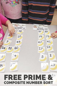 FREE Prime and composite number sort + other activities, games, and iPad apps to make learning fractions fun for your students.