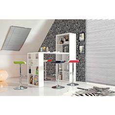 phoenix 648801we lounge bar hochglanz abgerundete kanten amazonde kche - Raumteilerregale