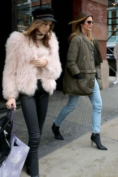 Kaia Gerber #KaiaGerber and Cindy Crawford  Mercer Street Hotel in New York City 15/02/2017 Celebstills C Cindy Crawford K Kaia Gerber