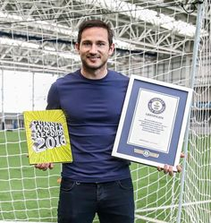 Frank Lampard enters the Guinness Book of Records 2016