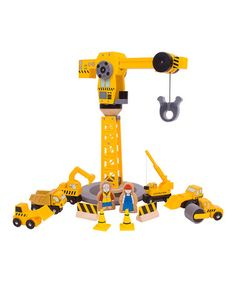 Take a look at this Big Crane Construction Set by Bigjigs Toys on #zulily today - regularly $56, Zulily price $37.99, because D is a digger