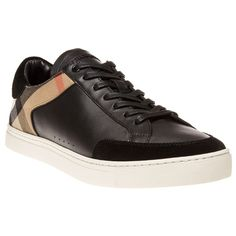 Mens Black Burberry Retford Trainers at Soletrader