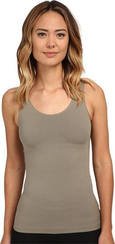fb70e615d8b31 SPANX Shape in   out Tank 0815 Slimming Cami Shapewear Olive Green L