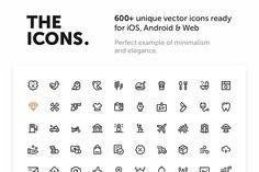 600+ Premium Vector Icons @creativework247