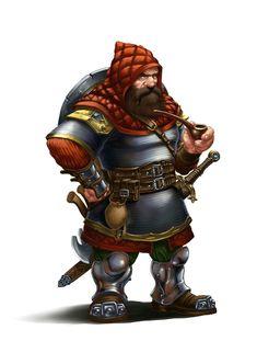 Male Dwarf Fighter - Pathfinder PFRPG DND D&D d20 fantasy