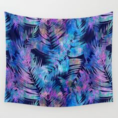 Waikiki+Tropic+{Blue}+Wall+Tapestry+by+Schatzi+Brown+-+$39.00