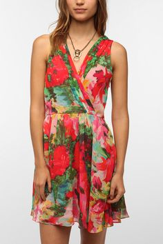 Cute Jack By BB Dakota Cherry Chiffon Dress from UO! Now get 5% cash back at Urban Outfitters when you shop through studentrate.com!