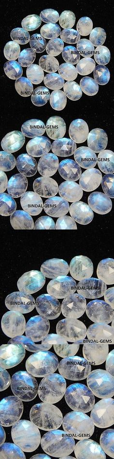 Moonstone 10237: 25 Pcs Lot Aaa Quality Rainbow Moonstone 4X6 Mm Oval Rose Cut Loose Gemstones -> BUY IT NOW ONLY: $38 on eBay!