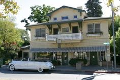 Calistoga Inn, Nappa Valley, CA. Where we spent our first vacation as a married couple!  Yeah he barley wine!!!
