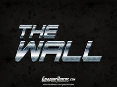 GraphicRiders   Metallic style – The Wall (free photoshop layer style, text effect) #graphicriders