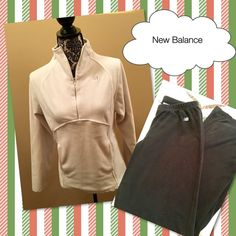 New Balance Terry Fleece Pullover and Pants New Balance Bundle!  Terry Fleece white pullover and black pants.  Pullover is a 3/4 zip and pants have elastic waist.  Gently loved, but still in excellent condition.  Great for lounging or outdoor activities! New Balance Other