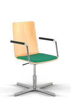 Intelligent Sitzen auf einem sitting smart. Schreibtischstuhl! Der typische Vierarm ist ideal für Kurzzeitarbeitsplätze und das Home-Office. Auf die Plätze fertig los!