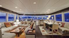 Salon onboard Sailing Nour | Durukos Yachting - Luxury Gulet and Motor Yacht Specialist in Turkey, Greece and Croatia