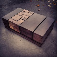 MSTRF // ABACI Series // Modern Abstract Walnut Coffee by MSTRF, $4055.00