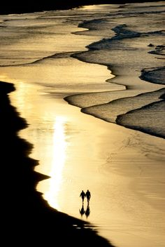 Romantic walk on the beach, Australia