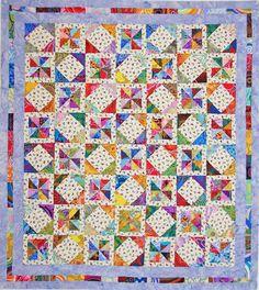 I always love pinwheel quilts